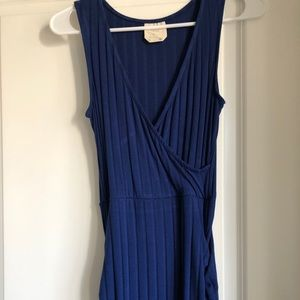 Francesca's Blue Long Knit Dress Sz xs